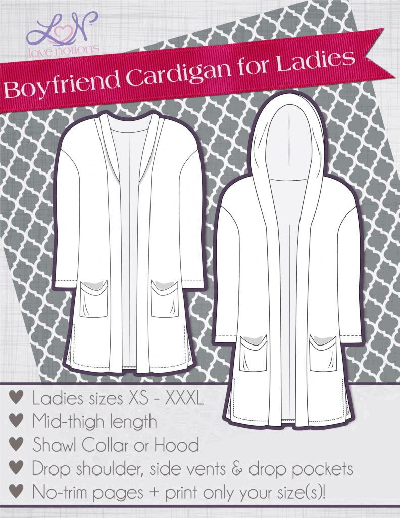 boyfriend cardigan zipper