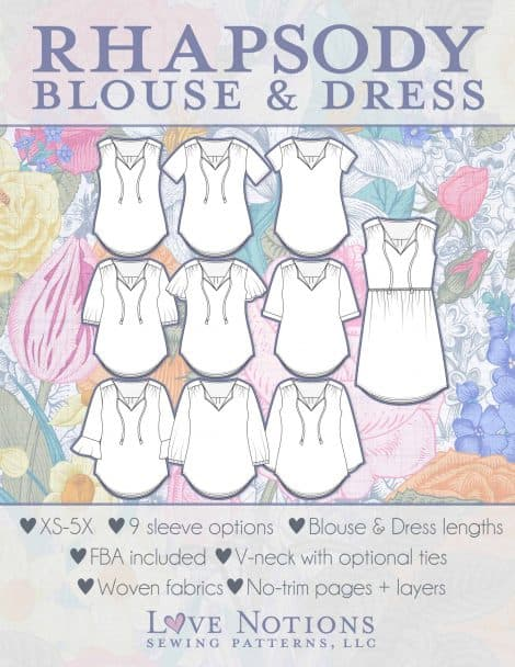 Rhapsody Blouse & Dress pdf pattern