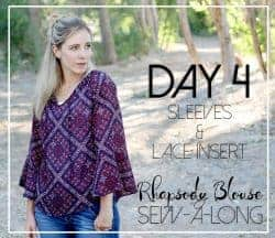 Rhapsody Blouse lace insert tutorial
