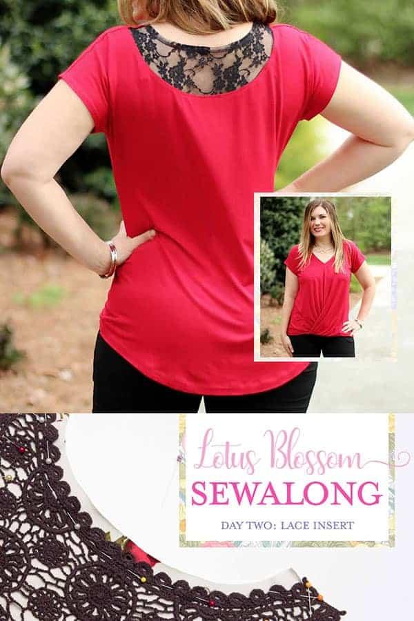 sewalong twist front lotus blossom blouse