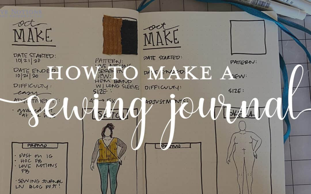 Serenity + Sewing Journal