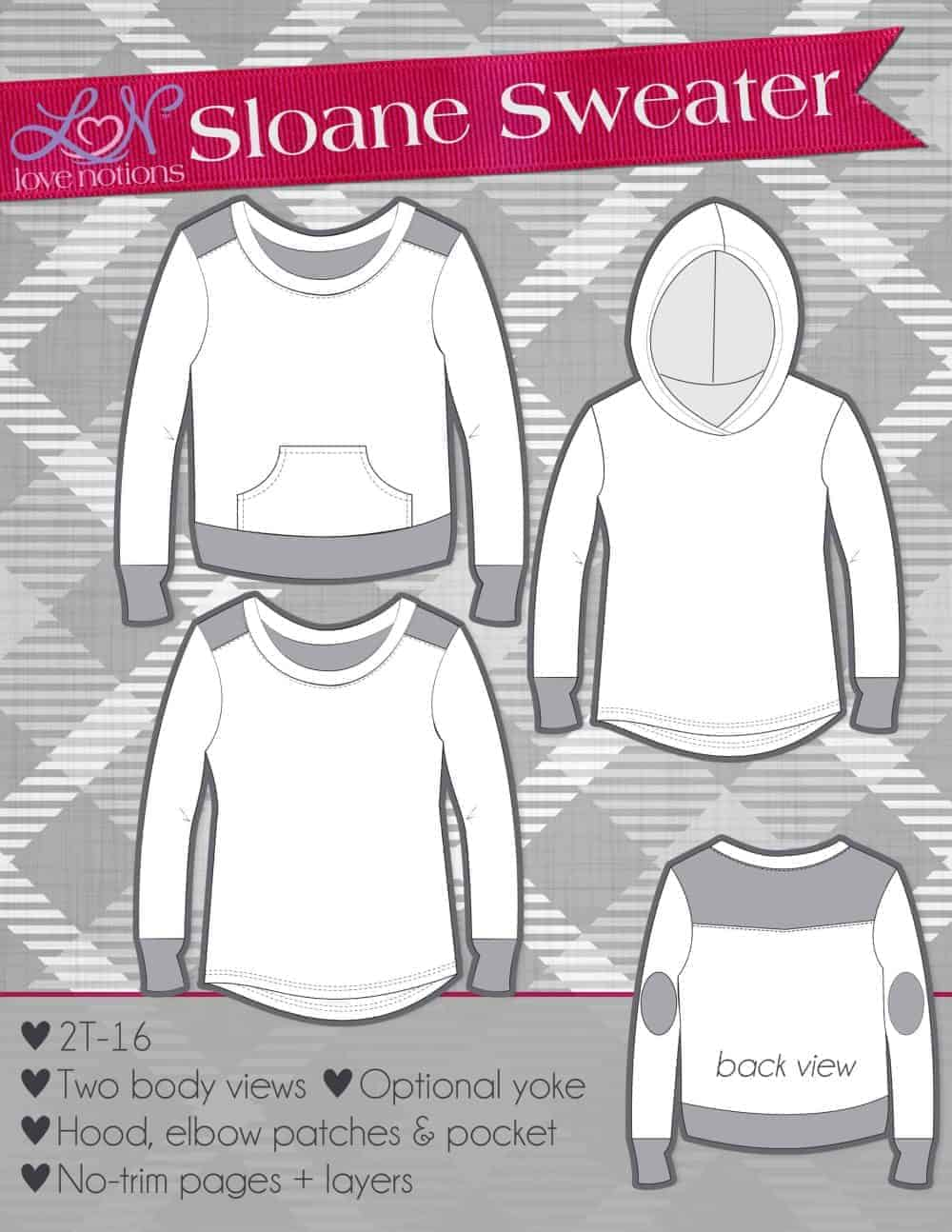 Easy and downloadable hoodie sewing pattern. 30d5bbad7