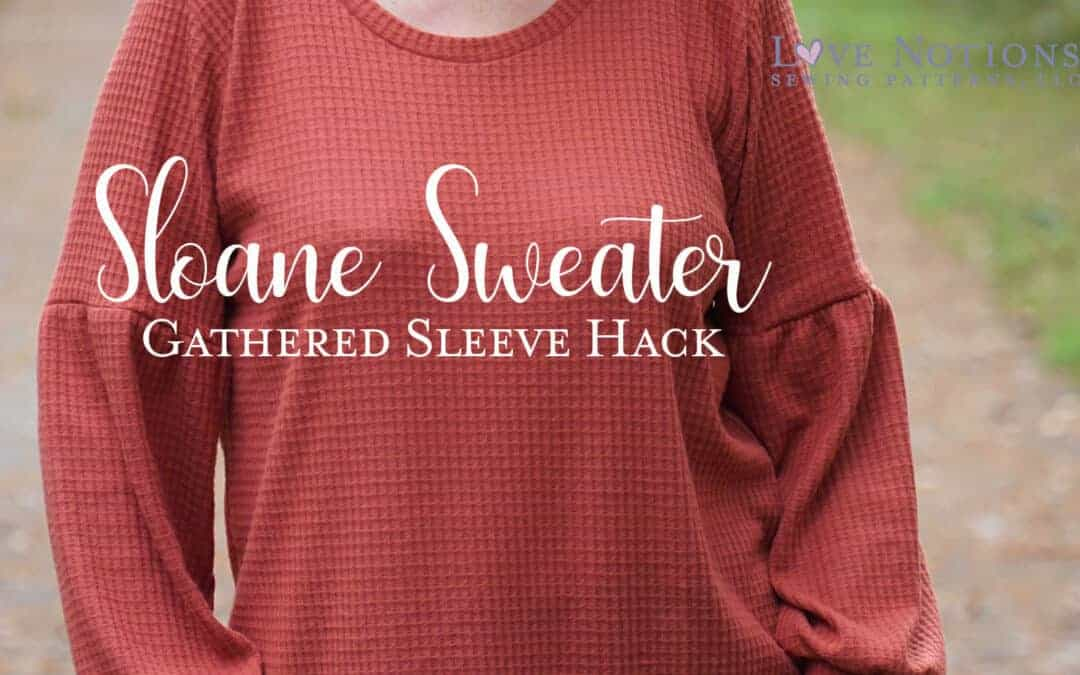 Sloane Sweater with Gathered Sleeves