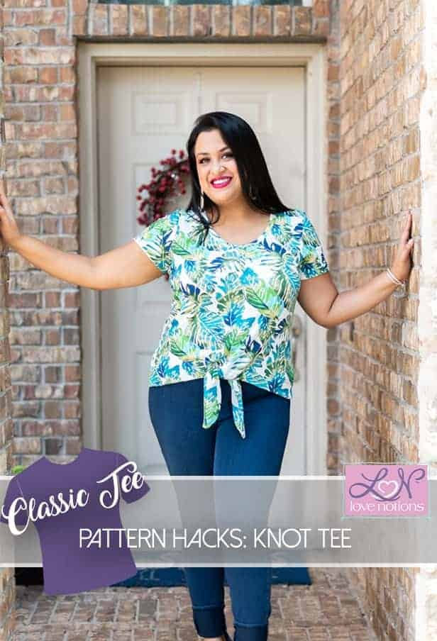 Classic Tee : Knot Front Tee Hack!