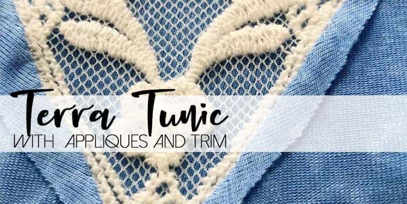 Terra tunic with applique and trim love notions sewing patterns