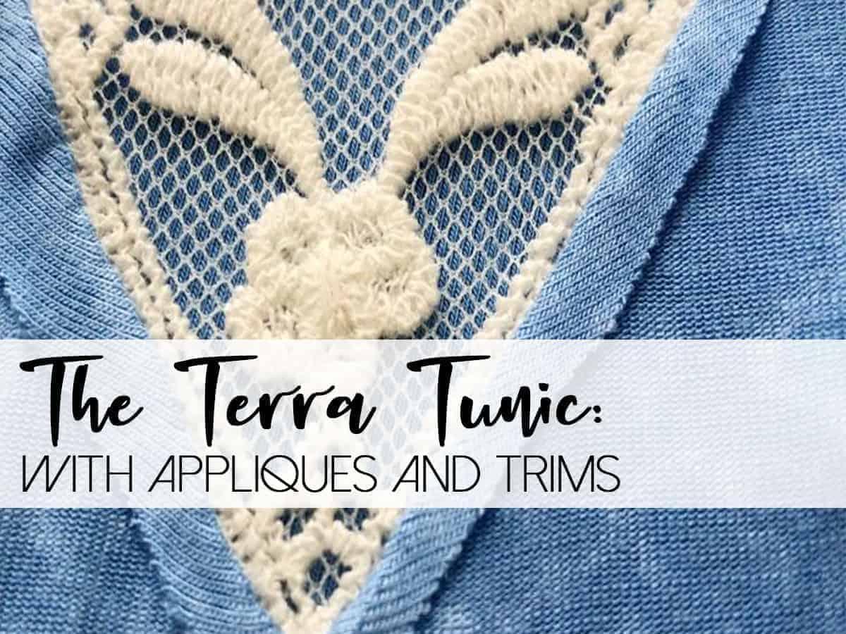 terra tunic trim applique