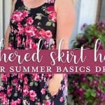 Gathered Skirt Hack for Summer Basics Dress