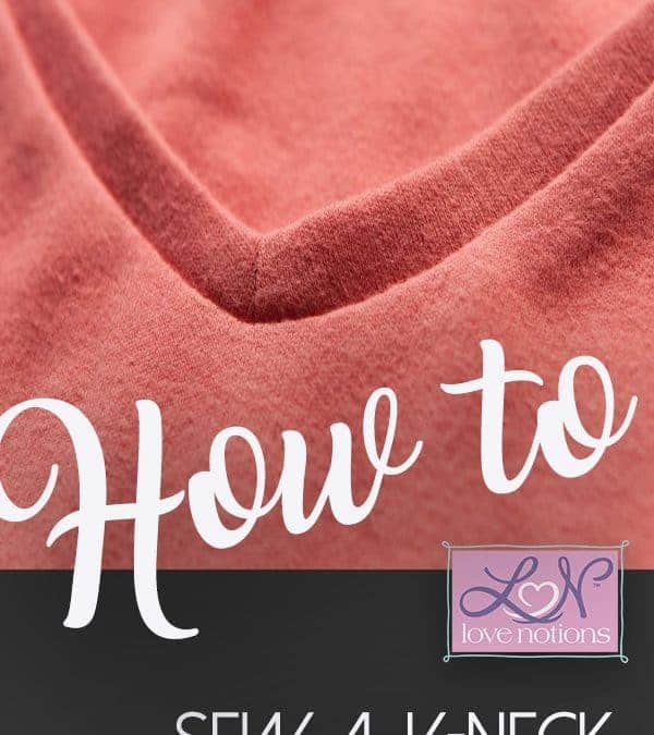 How to sew a v-neck video tutorial