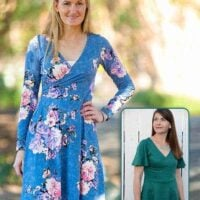Willow Wrap Dress pdf pattern