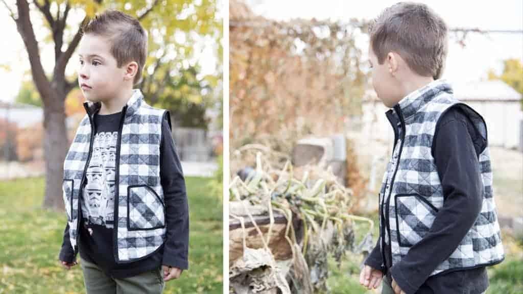 Vest pdf pattern for boys
