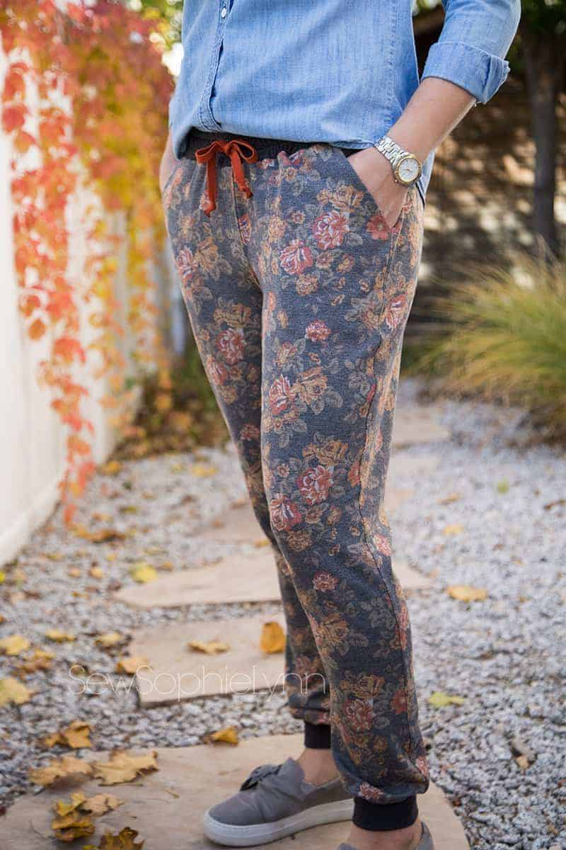 Make the Allegro pants sewing pattern into joggers