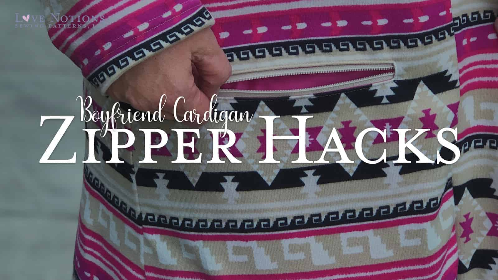 Boyfriend Cardigan Zipper hack