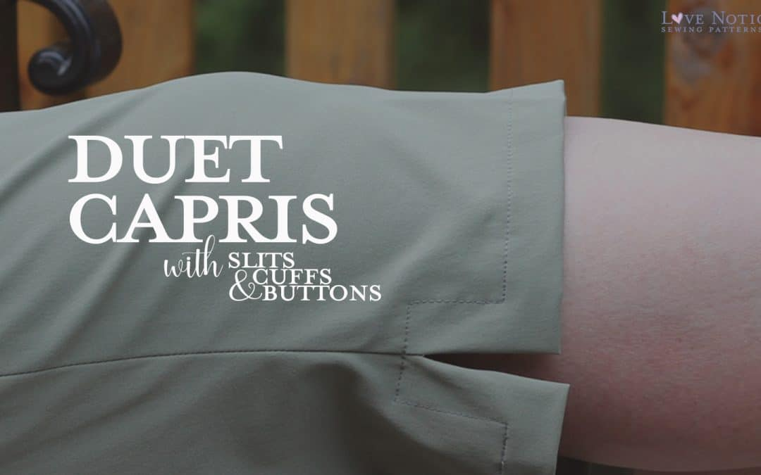Duet Capris with Cuffs, Slits, and Buttons