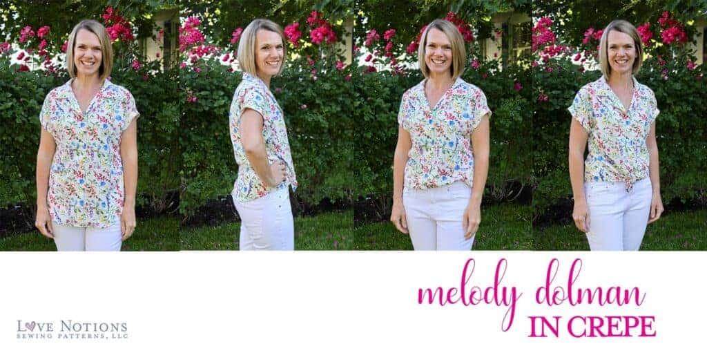 Melody dolman fabric crepe