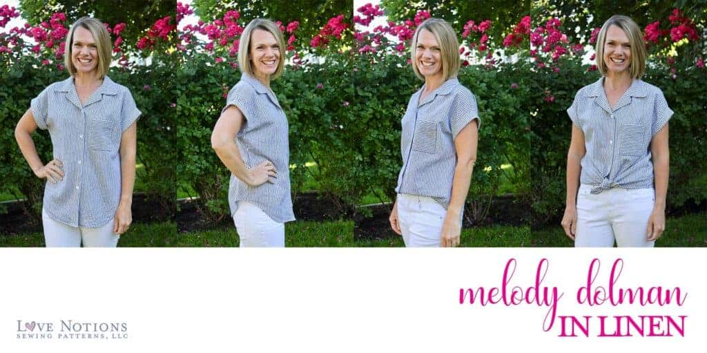 Melody dolman fabric linen