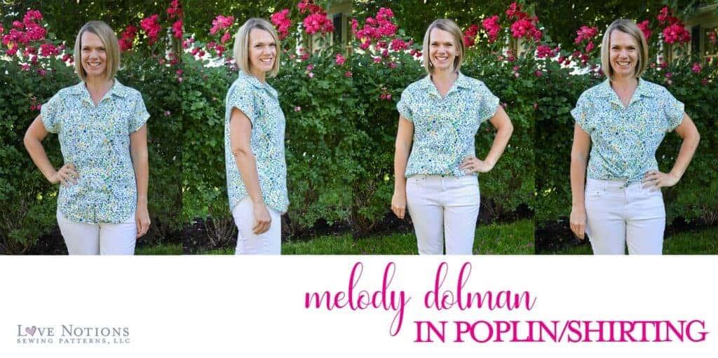Melody dolman fabric poplin shirting