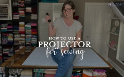 How to use a Projector to Revolutionize your Sewing