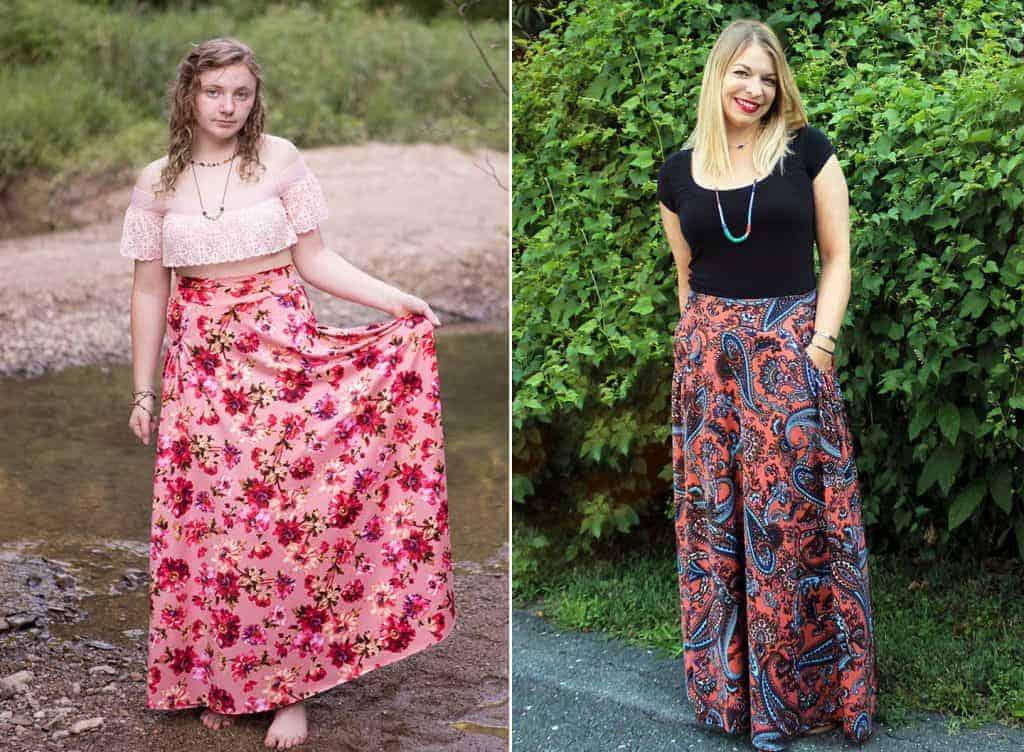 boho maxi skirt style