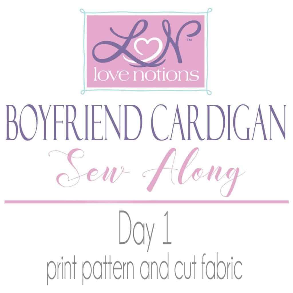 Boyfriend Cardigan Sewalong