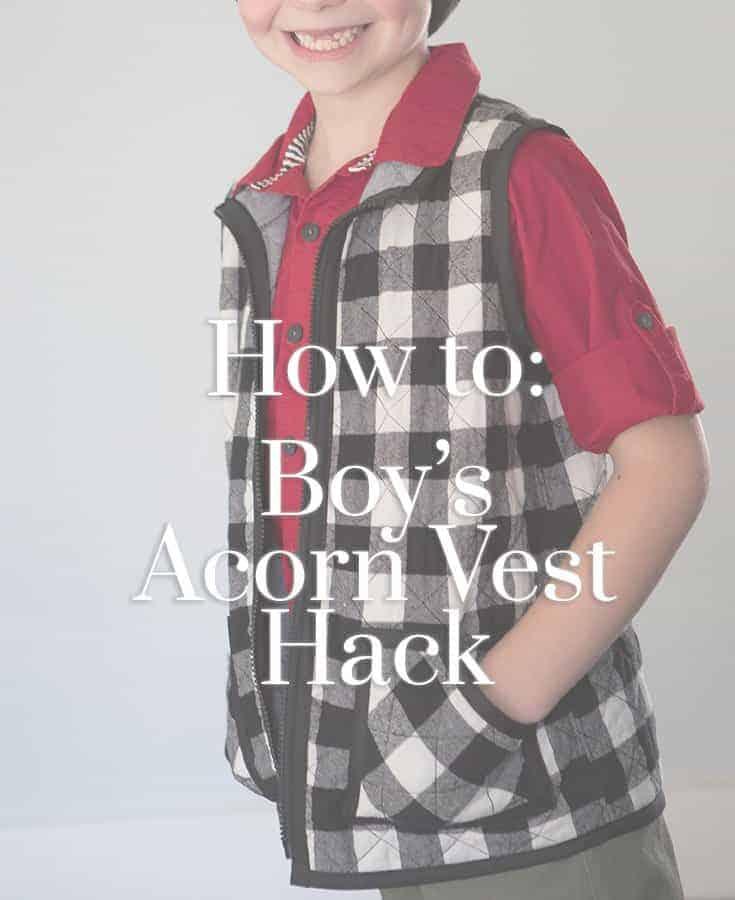 The Acorn Vest: For Boys
