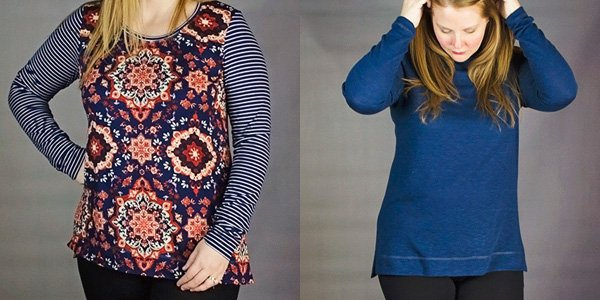 terra tunic brushed poly vs. sweater knit