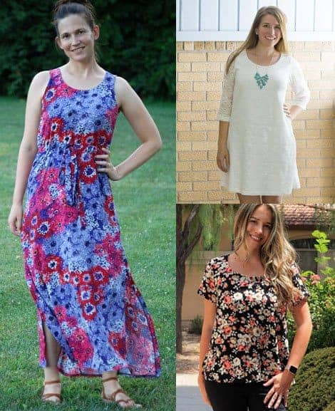 Cadence Top and Dress sewing pattern