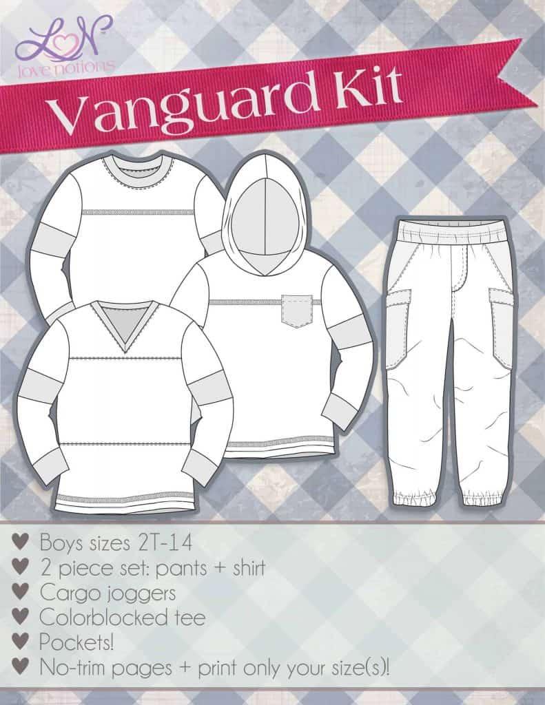 vanguard line drawing