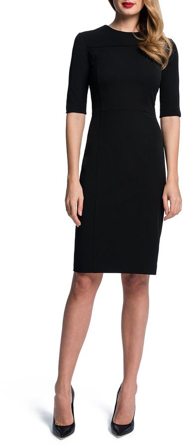 Half Sleeve Seamed Sheath Dress by Cynthia Steffe
