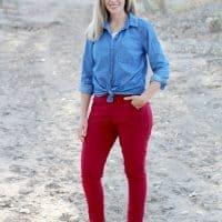 Tapered leg pants pattern