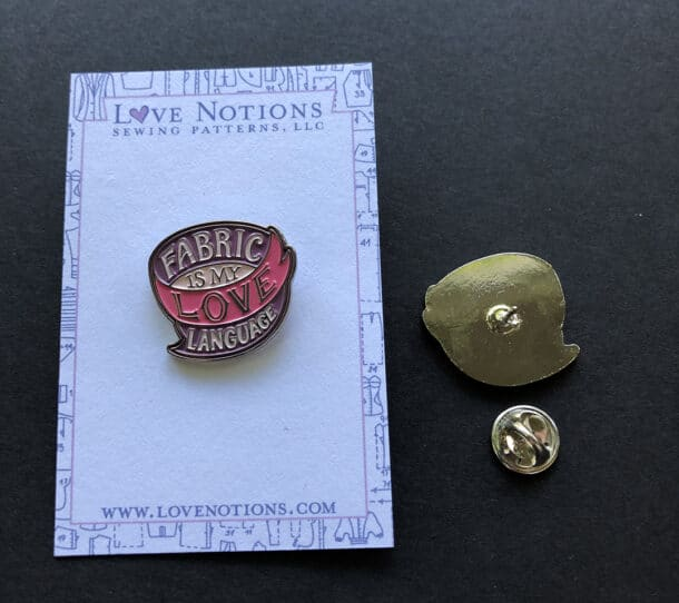 sewing enamel pin