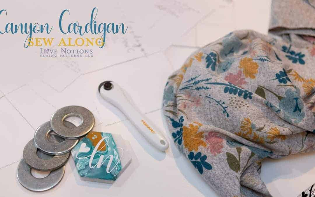 Canyon Cardigan Sew Along Day Two