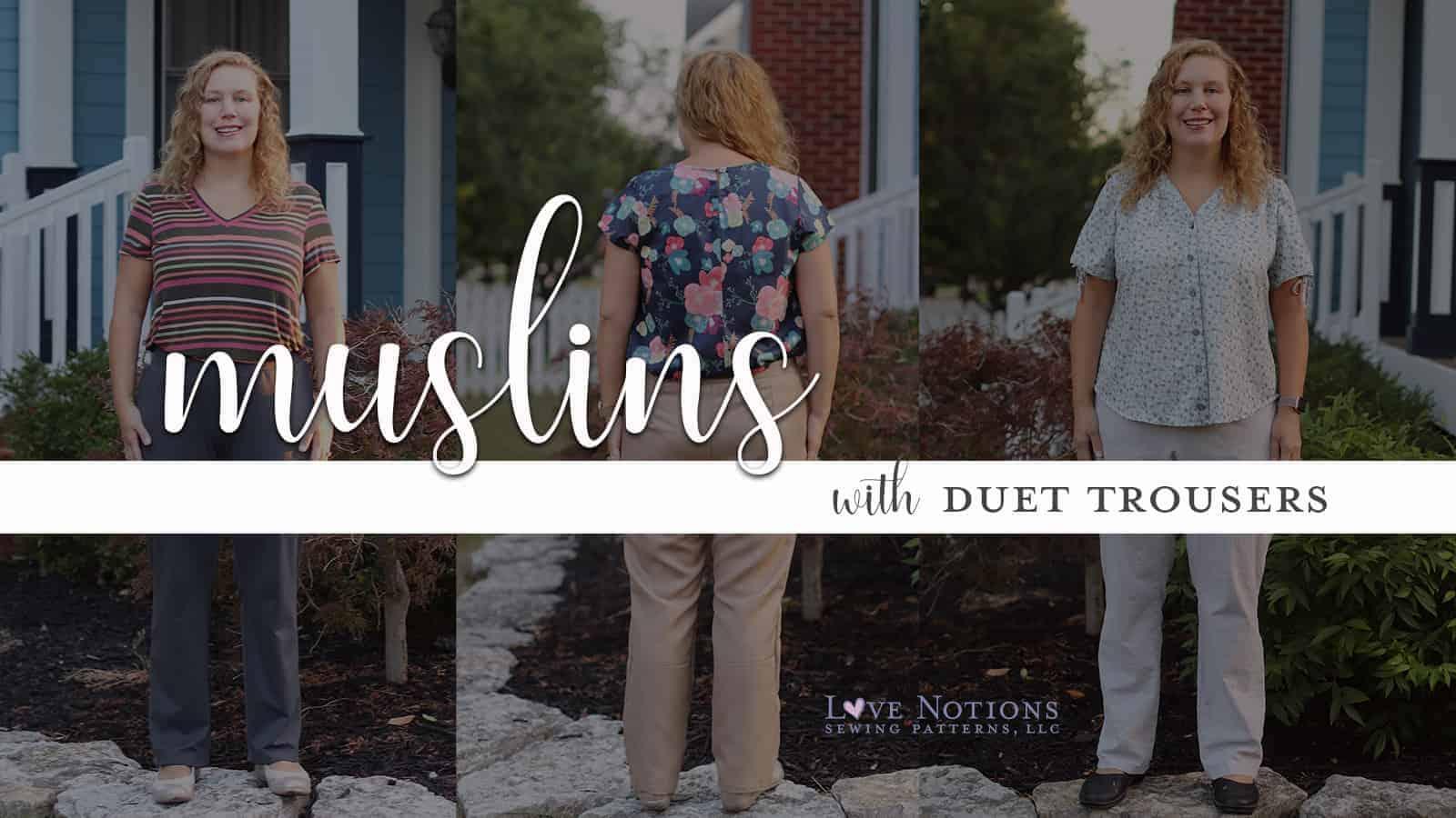 muslin duet pants
