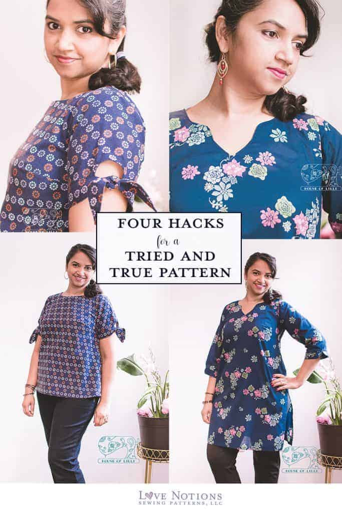 cadence neckline and sleeve hacks