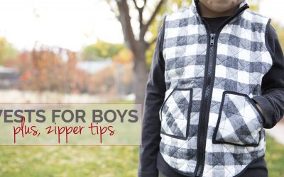Sew the Acorn Vest with these zipper tips