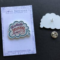I'D RATHER BE SEWING enamel pin