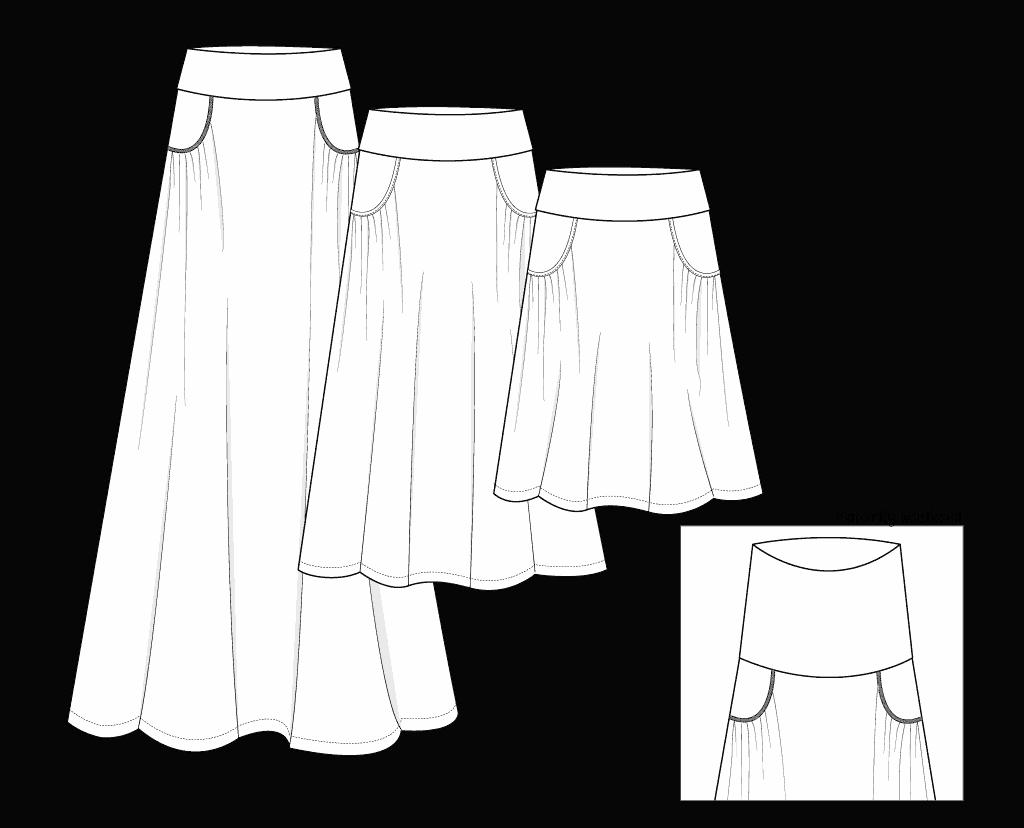 Ravinia Maxi skirt illustration