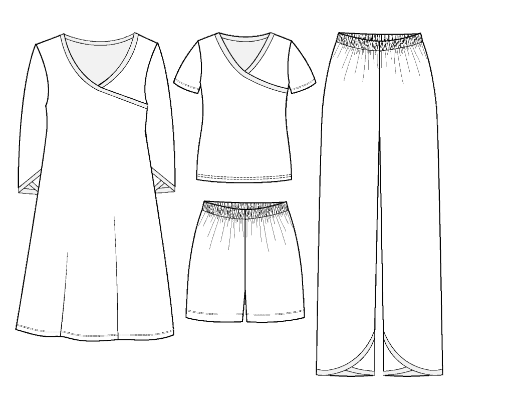 pajama pdf pattern illustration