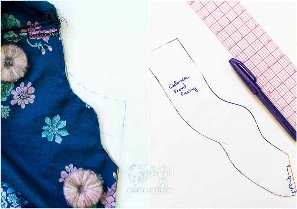 cadence neckline and sleeve hacks