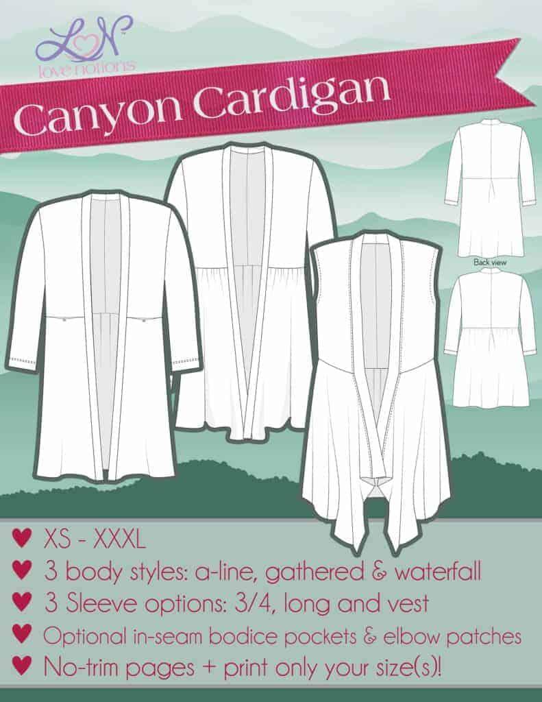 Canyon Cardigan pdf pattern