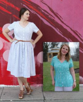 dress and peplum woven sewing pattern