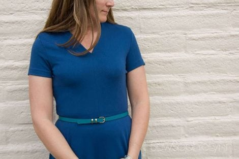 Short sleeves, maxi length Olympia Dress