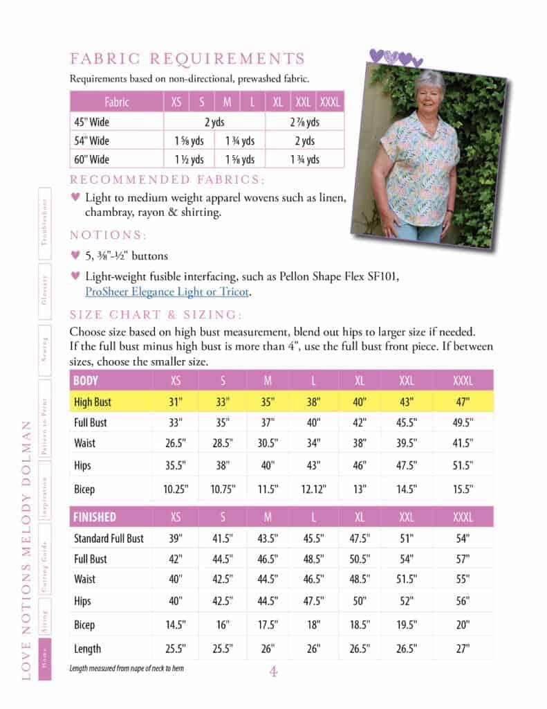 Melody Dolman pdf pattern