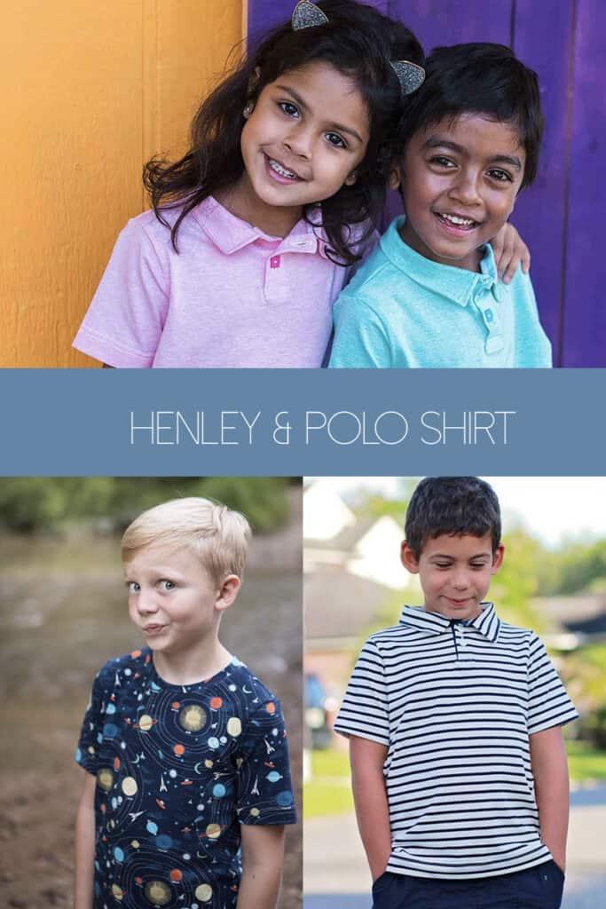 henley crew polo