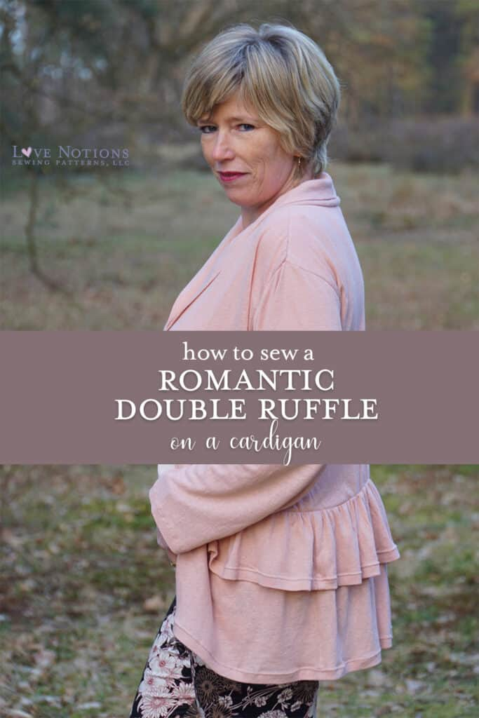 ruffle cardigan