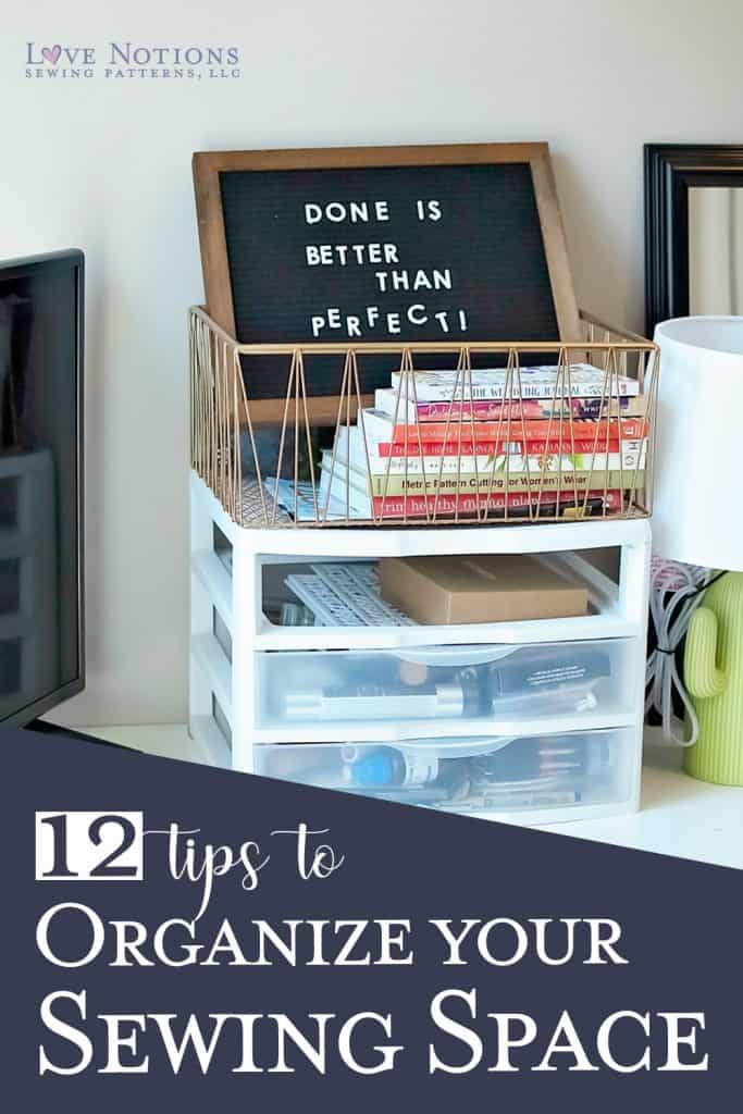 organize sewing space
