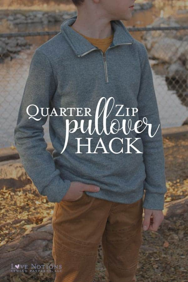 quarter zip pullover hack