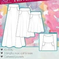 Maxi skirt pdf pattern