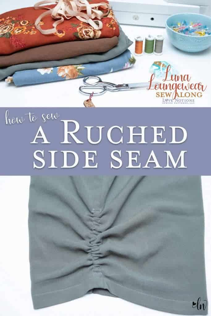 ruched side seam