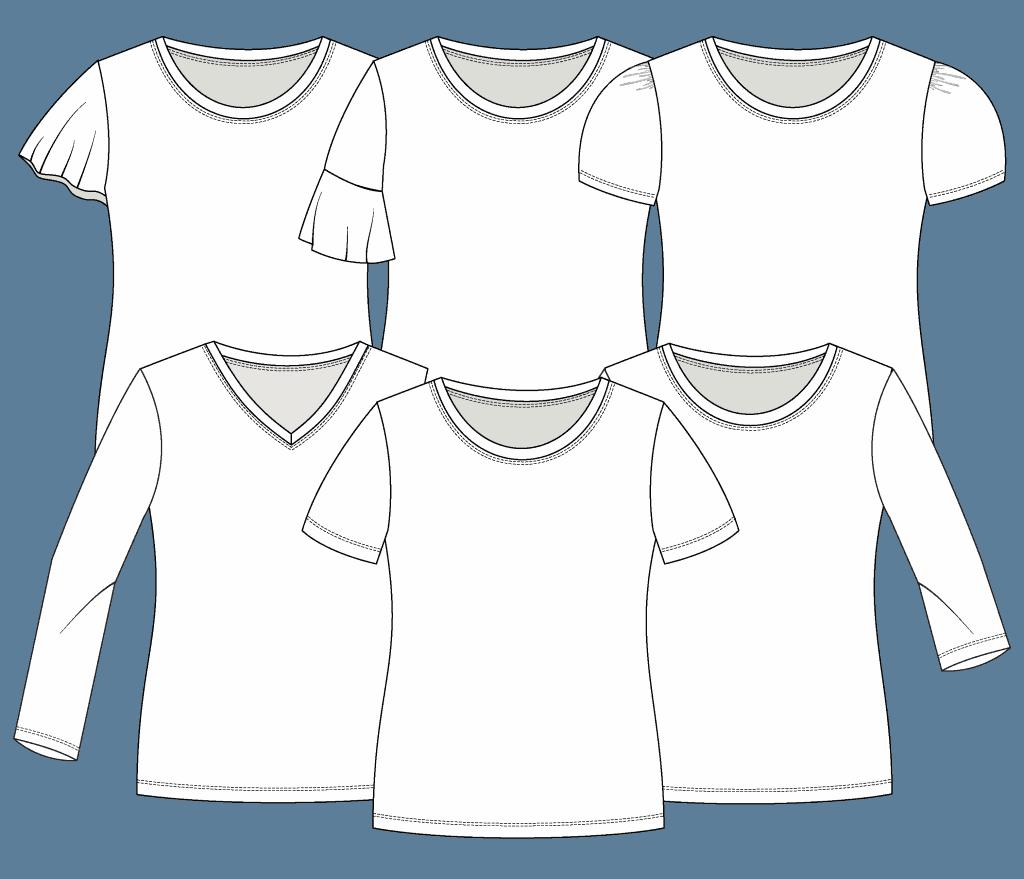 sleeve styles for the Classic Tee