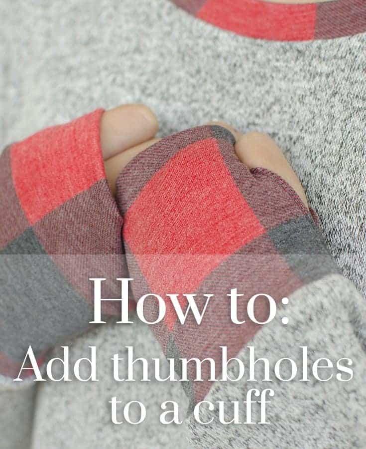 Adding thumbhole cuffs to the Sloane Sweater